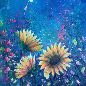 ROBYN WADE Small Sunflowers oil painting